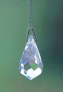 Crystal~Droplet 20 Clear Swarovski Rainbow Hanging Crystal.-A stunning array of dancing light